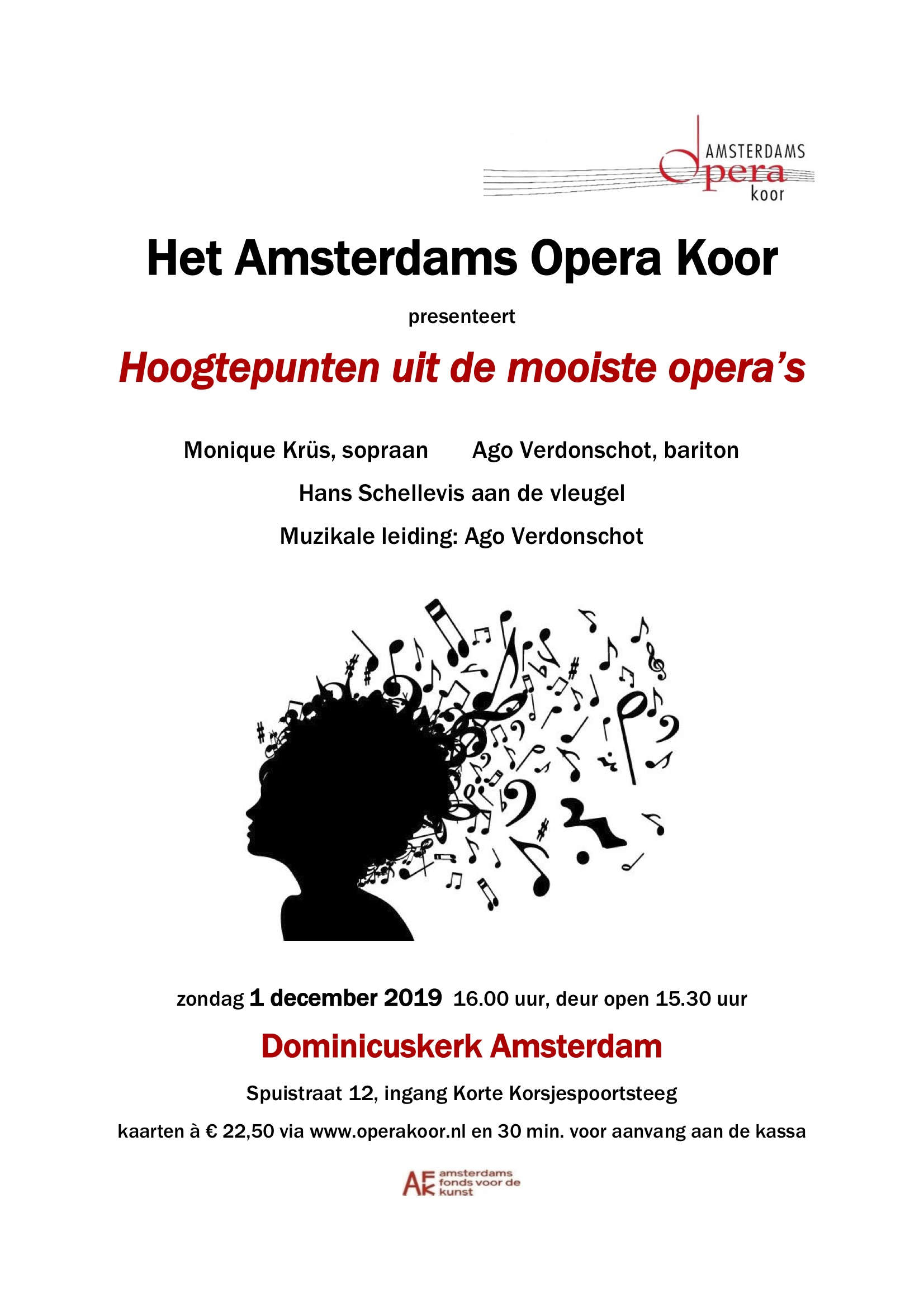 Flyer concert Dominicuskerk